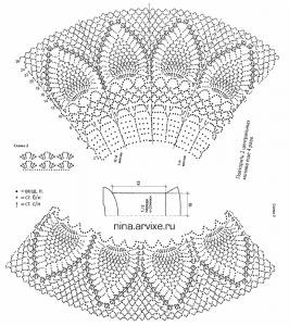 ажурное платье - схемы вязания крючком